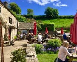 The Crown at Frampton Mansell. Cotswold bucolic splendour
