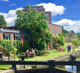 The Lock Cafe in Stroud. A canal-side haven.